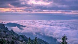 Sunrise at Mount Ellinor
